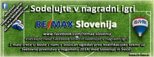 Nepremičnine RE/MAX Slovenija - Nagradna igra - ogled kvalifikacijske tekme